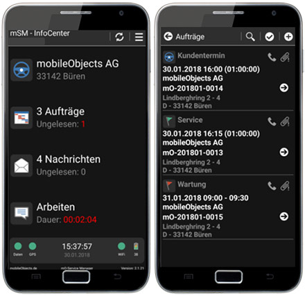 Mobile Auftragsmanagement Software.